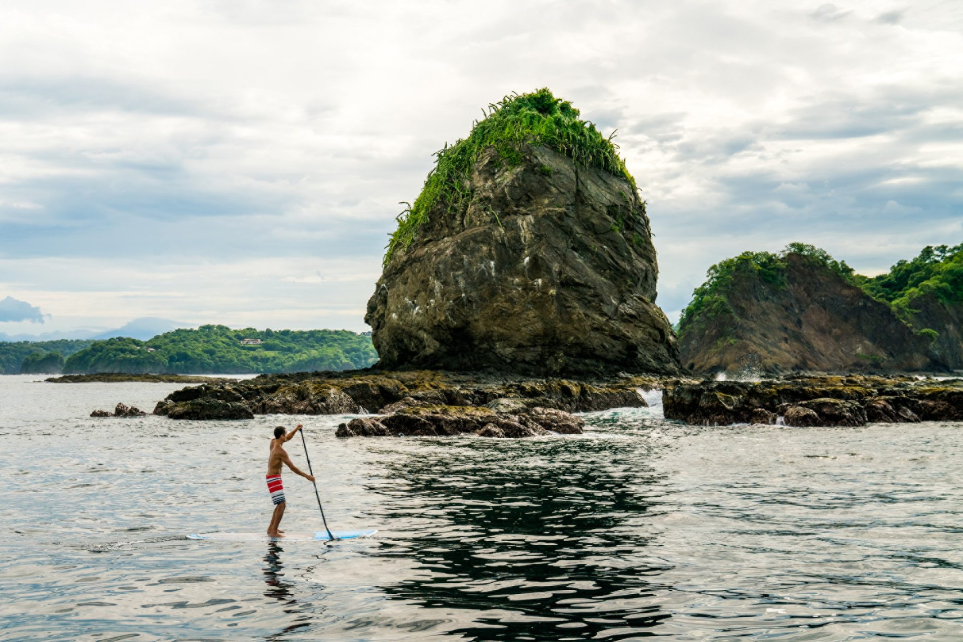 Stand up paddle boarding off the coast of Peninsula Papagayo Costa Rica