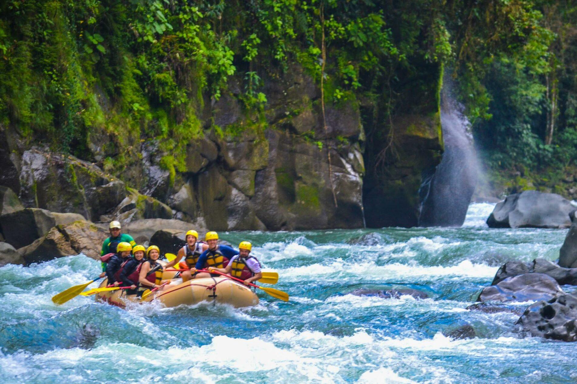 raft in the green season