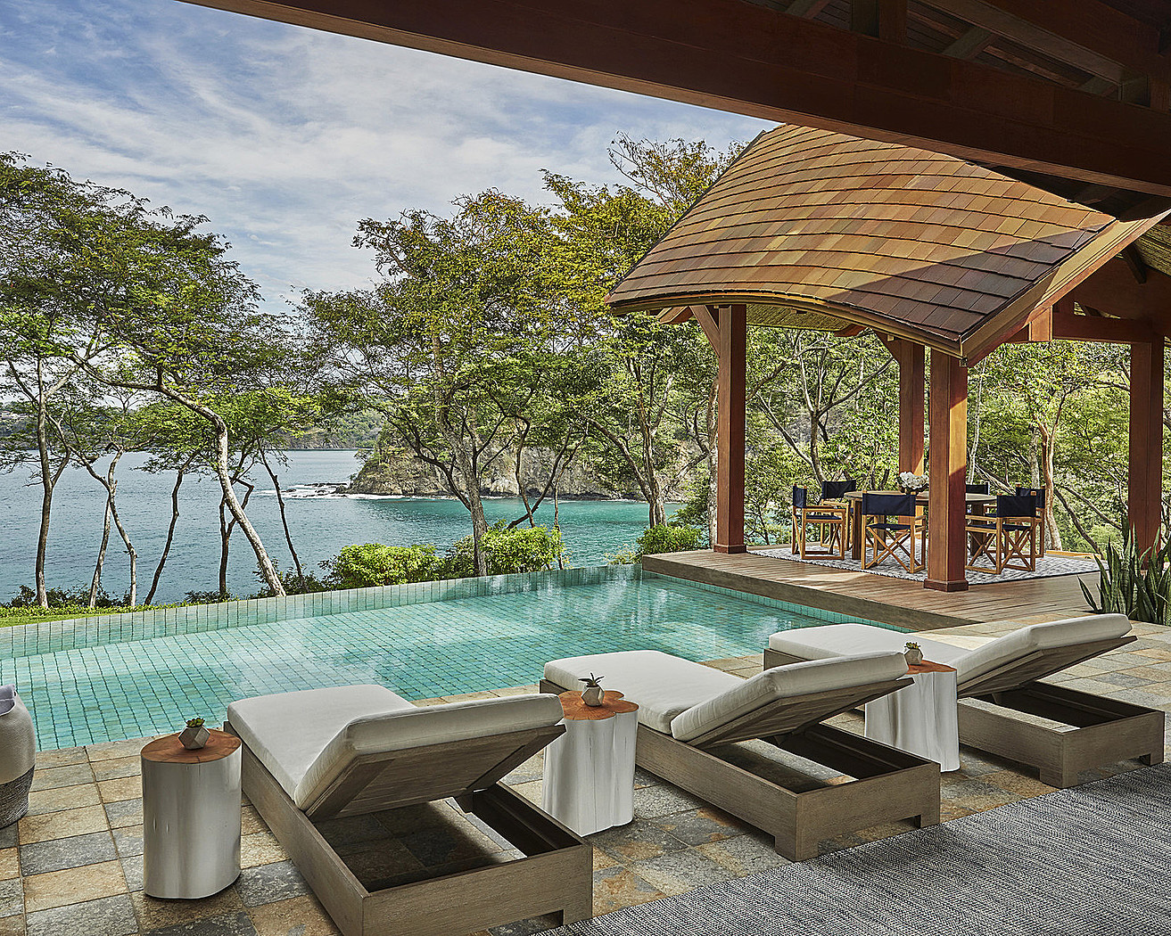 Enjoy your own private infinity pool from the comfort of your villa