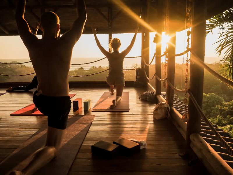 Tropical Open Yoga Studio at an Eco-Friendly Resort