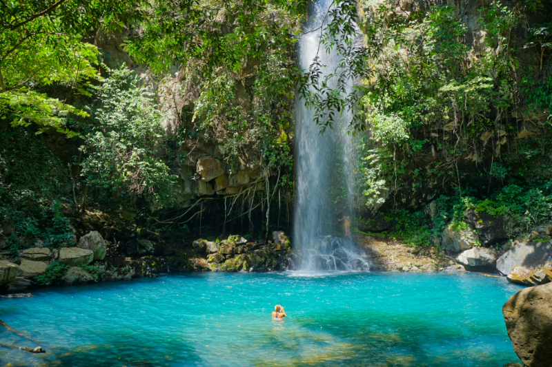 Cool off after an amazing hike at the World Heritage Site UNESCO - Rincón de la Vieja Volcano