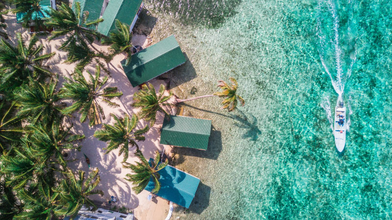 Honeymoon cabanas on a private Belize island
