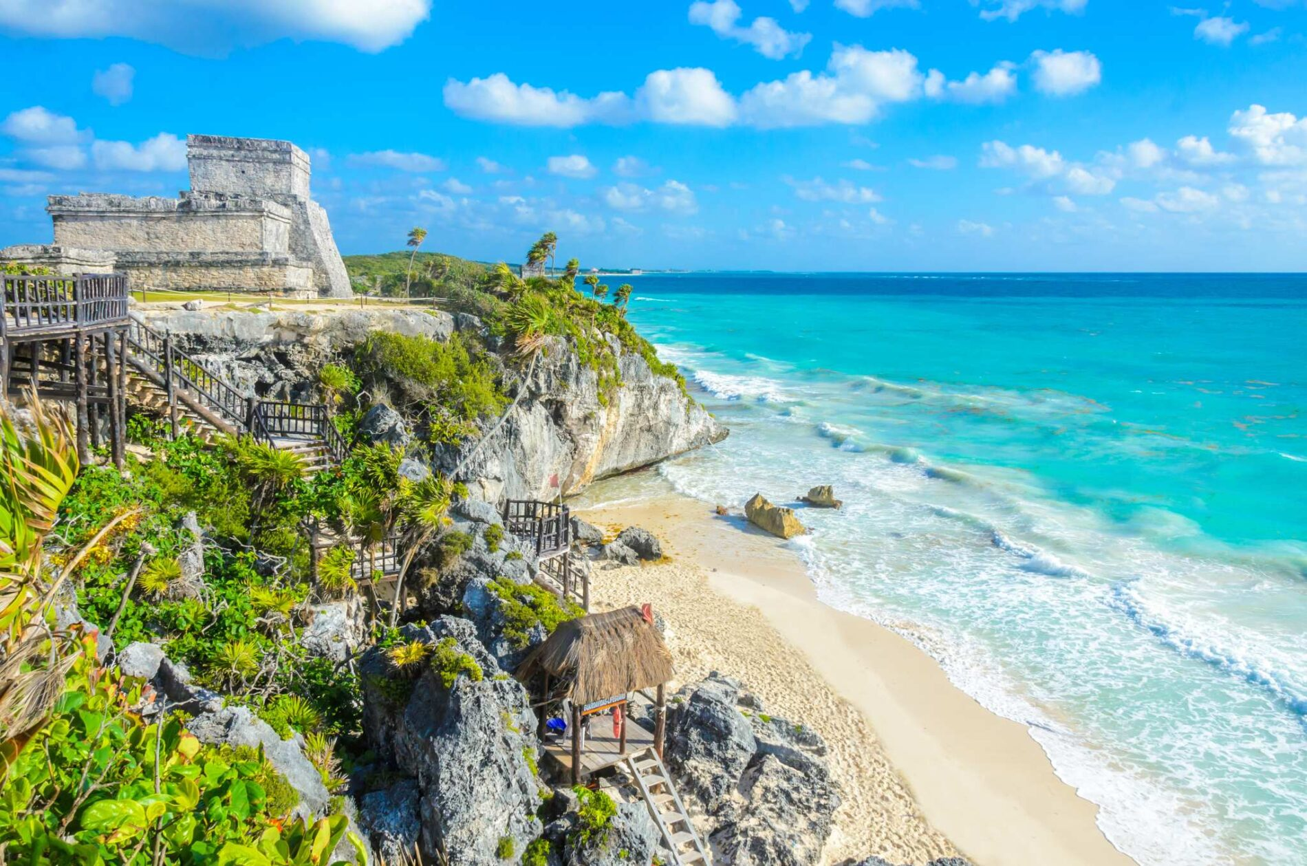 Turquoise Waters Of The Mexican Yucatan Vacation